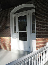 Restored Storm Door & Stained Glass Panels