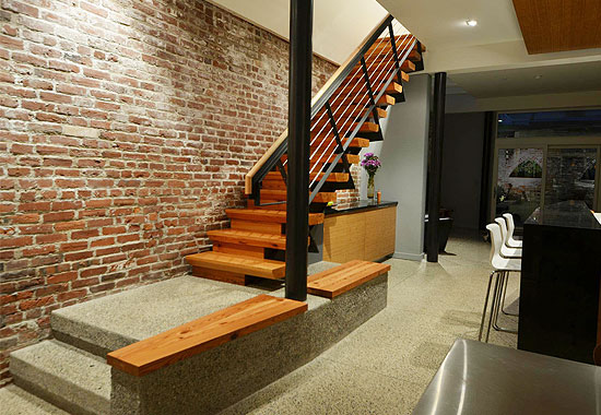 Heart Pine Treads,  Risers & Bench Tops of Main Stair