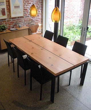 Reclaimed Yellow Pine Table Top